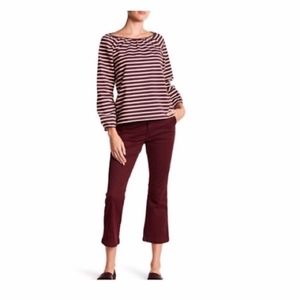 J. Crew Sammie Chino Pant Kick Flare Red Size 23